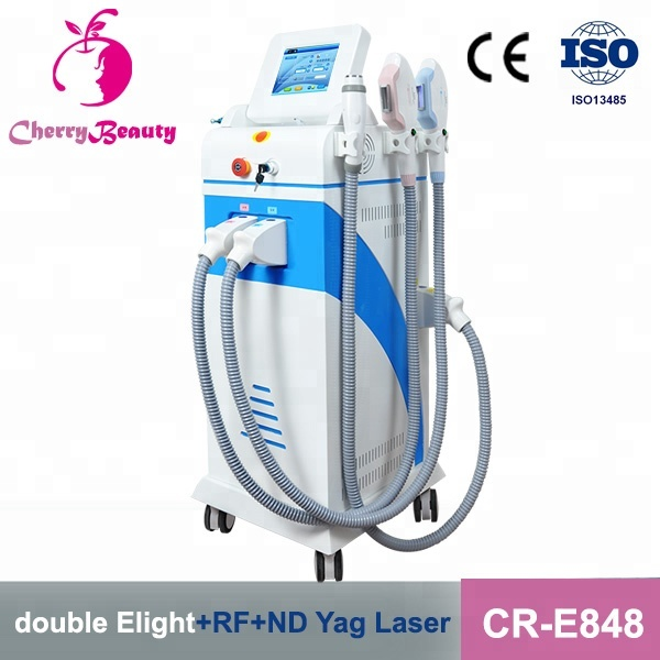 e light ipl rf nd yag laser 4 in 1 ng yag switched <strong>q</strong> laser probe tattoo removal painless hair removal