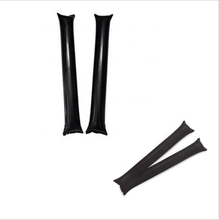 yiwu manufacturer wholesale 60*10cm 0.06mm thickness black inflatable PE thunder balloon cheering stick