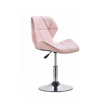 New design PU seat metal frame with chrome base lift bar chair