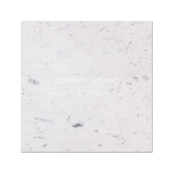 "Bianco  Carrara 12""x12""  Polished Marble Tile For Decoration"