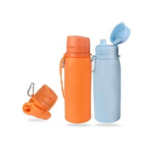 New Products FDA LFGB Approved Silicone <strong>Sports</strong> Collapsible Water Bottle