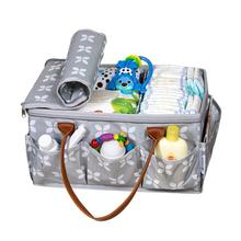 Baby Diaper Caddy Organizer with Zip-Top Cover for Baby Essentials & Toys