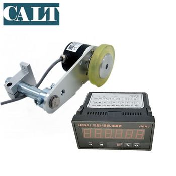 CALT Fabric Leather Length Wheel Counter Meter Device 200mm 0.5mm accuracy Wheel Pulse Encoder GHW38