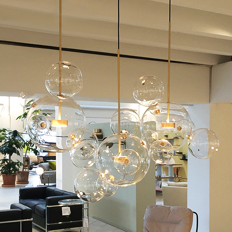 STOCK lights! Bubble Hanging pendant LED Glass chandelier <strong>lighting</strong> American Kitchen Dining Room Home Decor Lights ETL86159