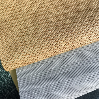 Bag making material weave design synthetic leather