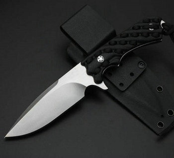 G10 + Ripe Handle Fixed Hunting Knife 58HRC 7CR17MOV Steel Knives Tactical Tools with K Sheath 6797