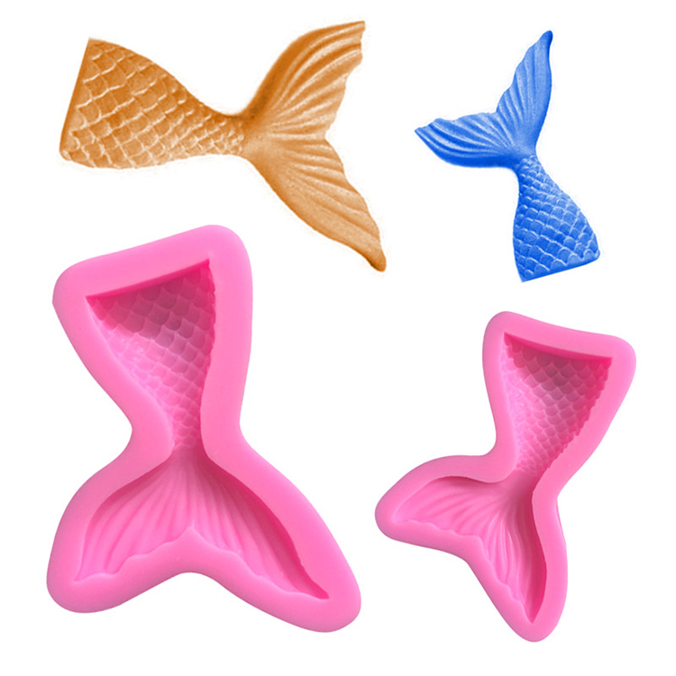 Amazon Top Seller 2019 Kitchen Accessories Set Baking Tools Silicone Creative Mermaid Tail Fondant Decorating Cakes Mold