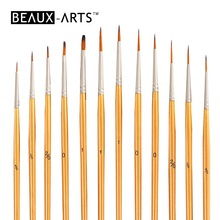 12pcs Synthetic Hair Miniature Art Acrylic Detail Paint Face Painting Brush Set