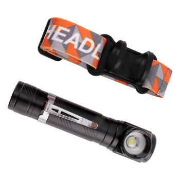 Multi-function portable LED flashlight with head band LED headlamp flashlight