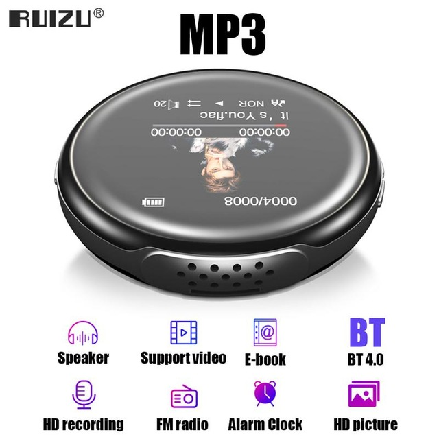 New Original RUIZU M1 BT Sport <strong>MP3</strong> Player Portable Audio 16GB with Built-in Speaker FM E-Book Radio Touch Music Players