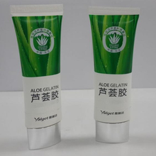 <strong>Flat</strong> and oval Plastic Barrier Laminated cosmetic tube for Aloe Gelatin and face make up Diameter 30