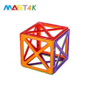 MAGT4K 46PCS Science Kits 3D Puzzle Toy Montessori Material Educational Magnet Tiles