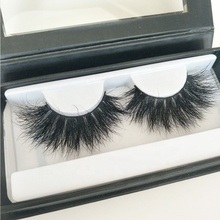 Dramatic Mink Fur Lashes <strong>100</strong>% Real Siberian Mink Fur 25mm Eyelashes Wispy Fluffy 25mm Long Eyelash