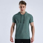 LIEXING 2019 latest sports wear wholesale men hoodie fitness gym clothing plain tshirt running wear men jogging tshirt quick dry