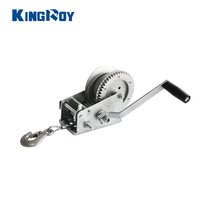 2500lbs portable heavy duty small manual hand wire rope boat anchor winch