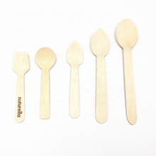 Ice cream wooden spoon disposable