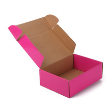 Wholesale Custom Design Luxury Foldable Box Pink Gift Corrugated Paper Packaging Box
