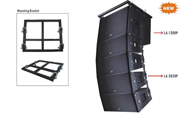 Active speaker line array outdoor concert stage sound system