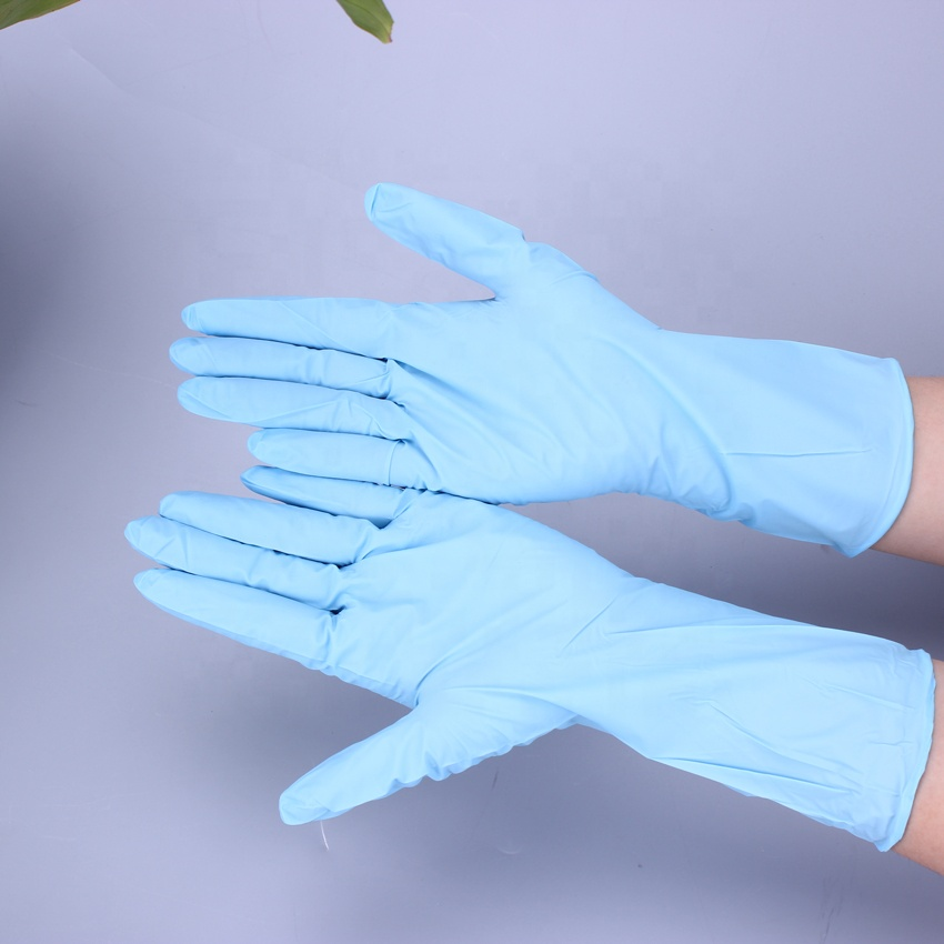 Blue white Nitrile Disposable <strong>Gloves</strong> For Industrial Use