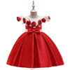 Wholesale Luxury boutique design smocked children's clothing girl fancy prom wedding event frocks small kids party dress L5112