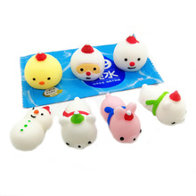 <strong>W164</strong> Novedades 2019 TPR Soft Small Plastic Toys Animal Squeeze Doll Toys For Kids