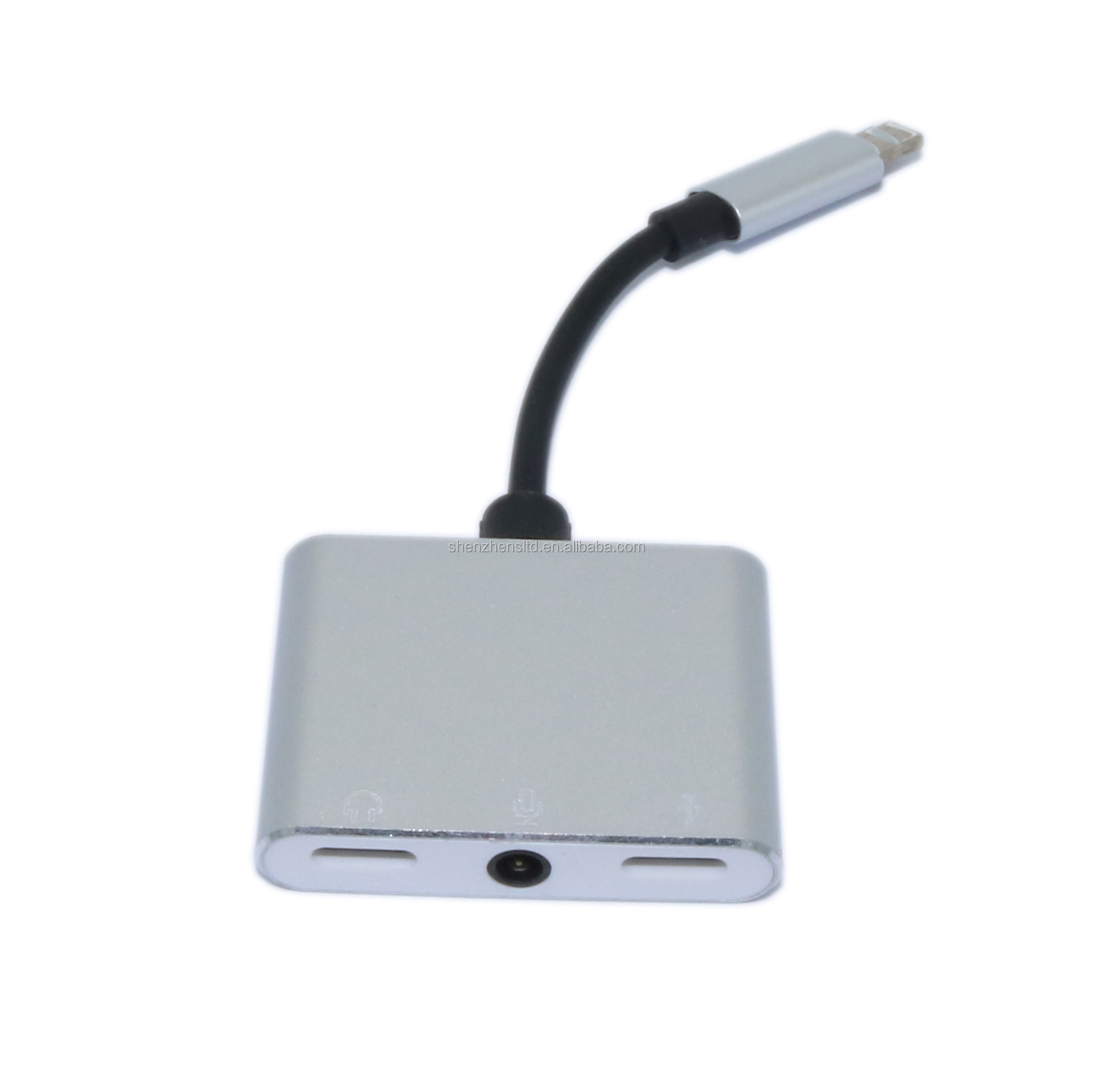 Newest 2 in 1 to 3.5mm micro usb Audio Adapter and Charge Splitter for iPhone with 3.5mm DC call function