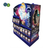 Double Sided CD DVD POP Display Stand Movie Corrugated Cardboard Pallet Display Rack For Theatre and Cinema