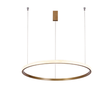 Aicco Black Copper Color Kitchen Circle LED Pendant Lights Modern, LED Ring Chandelier Light Lamp 12616