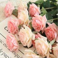 Hot sale latex rose single artificial flower real touch rose flower for wedding decoration