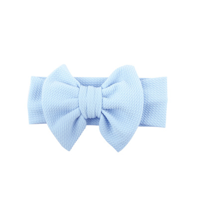 Hot Sale Fancy Cotton Cute Bow Baby Girls Fabric Flower Hair Accessories Big Bow DIY Knot <strong>Headbands</strong>