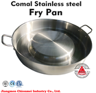 Outdoor stainless steel double egg fry pan