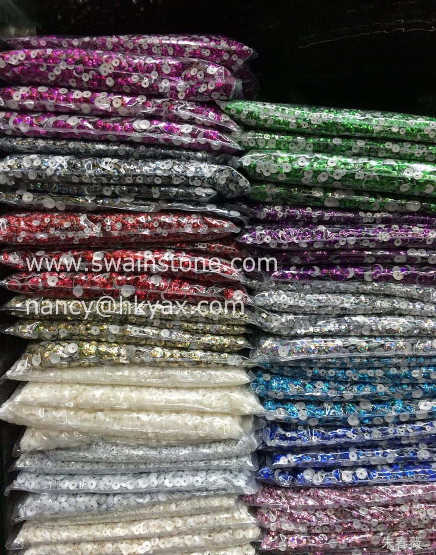 G0830 1KG packing 4mm hotfix sequins;round hotfix spangle sequins;with hole/without hole hotfix loose sequins