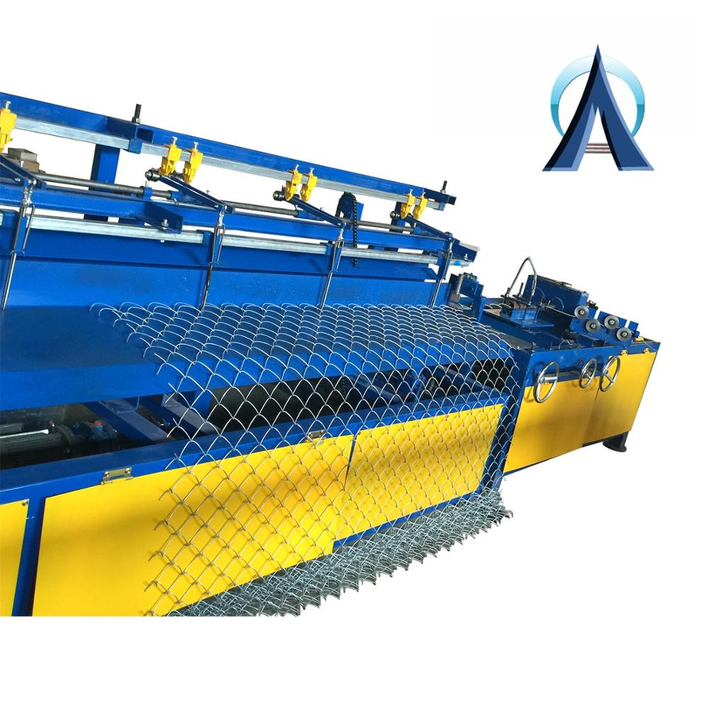 Heavy Duty Diamond Mesh Wire Making Machine , Chain Link Fence <strong>Equipment</strong> Low