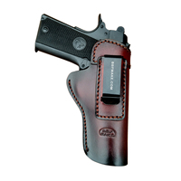 OEM/Wholesale Tactical Gun Holster Leather For 1911 IWB Holsters Inside Waistband Concealed Gun Accessories Gun Bag Red-Brown