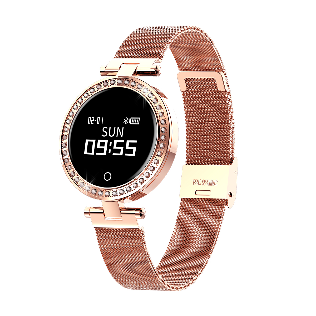 <strong>X10</strong> Ladies Smart Watch Round For Women Heart Rate Blood Pressure Monitor Message Call Reminder Pedometer Calorie Smartwatch