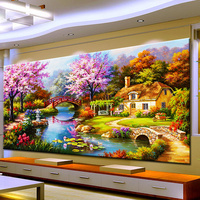 Arts Crafts Diy Diamond Painting Cross Stitch Dream Home Diamond Embroidery Cabin Scenery Rubik's Cube Drill Picture
