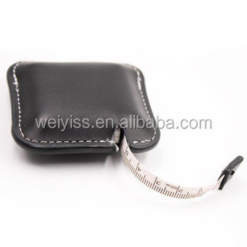 fancy measuring tape black leather tape