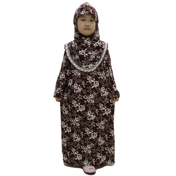 new design printed muslim girl abaya hijabs and Dress prayer clothing Islam abaya YM019