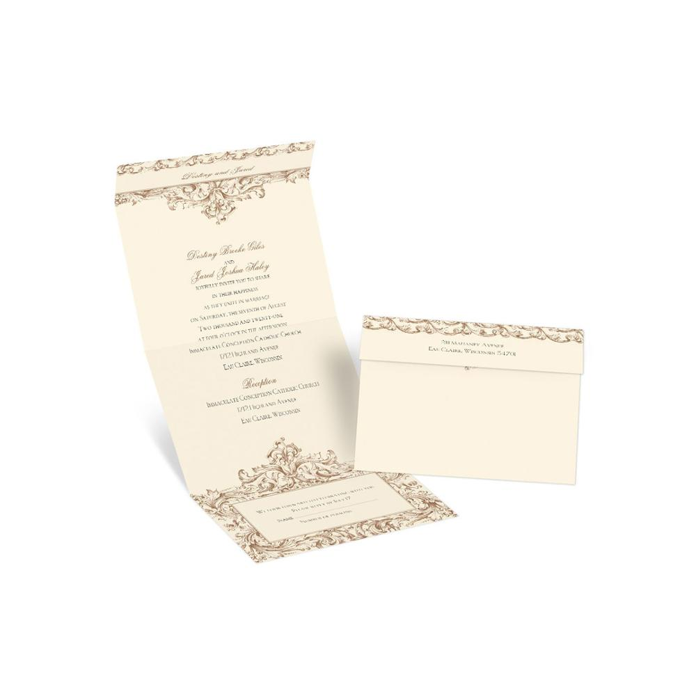 Hot Selling Custom Card Brochure Booklet For Wedding Invitation