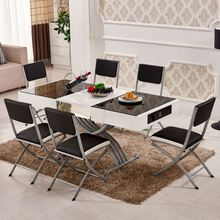 Modern <strong>furniture</strong> cheap price wood folding dining table and chiars set Adjustable space saving <strong>furniture</strong>