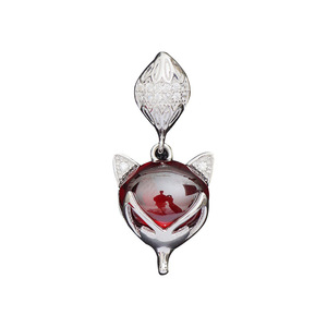 Luxury 925 Sterling Silver Pendent Women Elegant Wine Red Garnet Charms Fashion Wild Jewelry Accessory