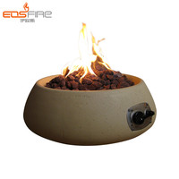 China supplier freestanding cheap gas fireplace round outdoor fire pit