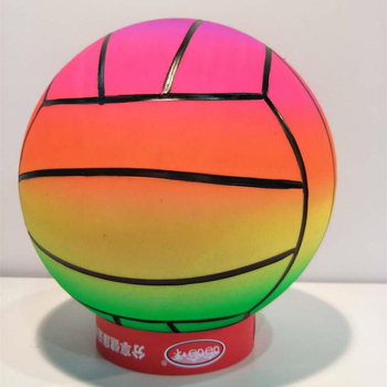 Inflatable Eco-friendly & Non toxic PVC material 8.5inch Rainbow Volleyball