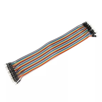 Chengsuchuang 40pcs 30cm Male To Male Jumper Cable Dupont Wire For Arduino