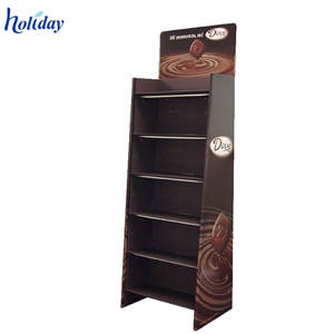 Wholesale Eco-friendly Paper Coffee Cups Display Rack, Cardboard Coffee Mug Display Stand for Shop