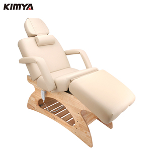 High end beauty salon spa adjustable electric massage bed wooden