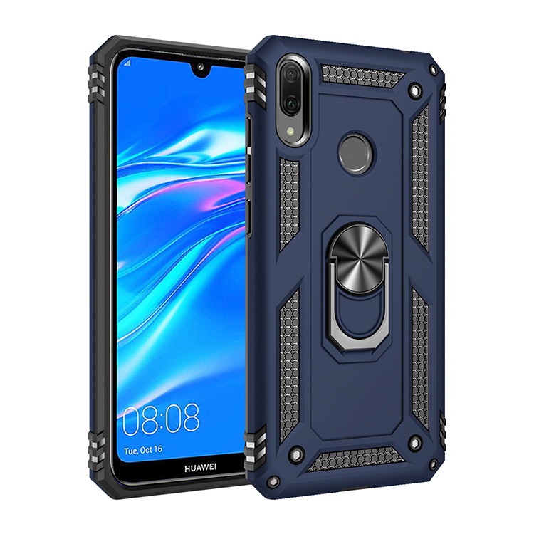2019 Newest hybrid shockproof phone <strong>case</strong> for Huawei Y7 2019 / Y7 Prime (2019) Y6 ring holder shell cover