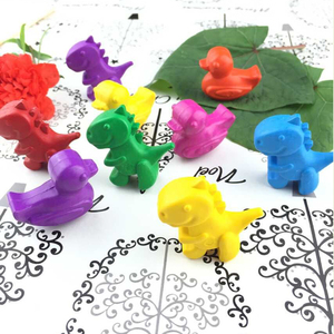 high quality Non Toxic China Supplier BSCI WCA SEDEX Audit 3D Animal Dinosaur shape Eraser for Children