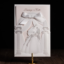 WISHMADE Factory Customized Laser Cut Invitations <strong>Cards</strong> with Envelope for Wedding Anniversary Bridal Shower Quinceanera Sample