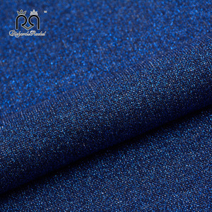 Factory direct sale 63%poly 27%cotton 10% lurex knitted sparkle hoodie fabric